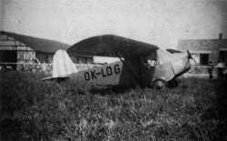 FOTO: Bene�-Mr�z Be-60 �Bestiola�, OK-LOG, Han�ck�ho aeroklubu, 1938.